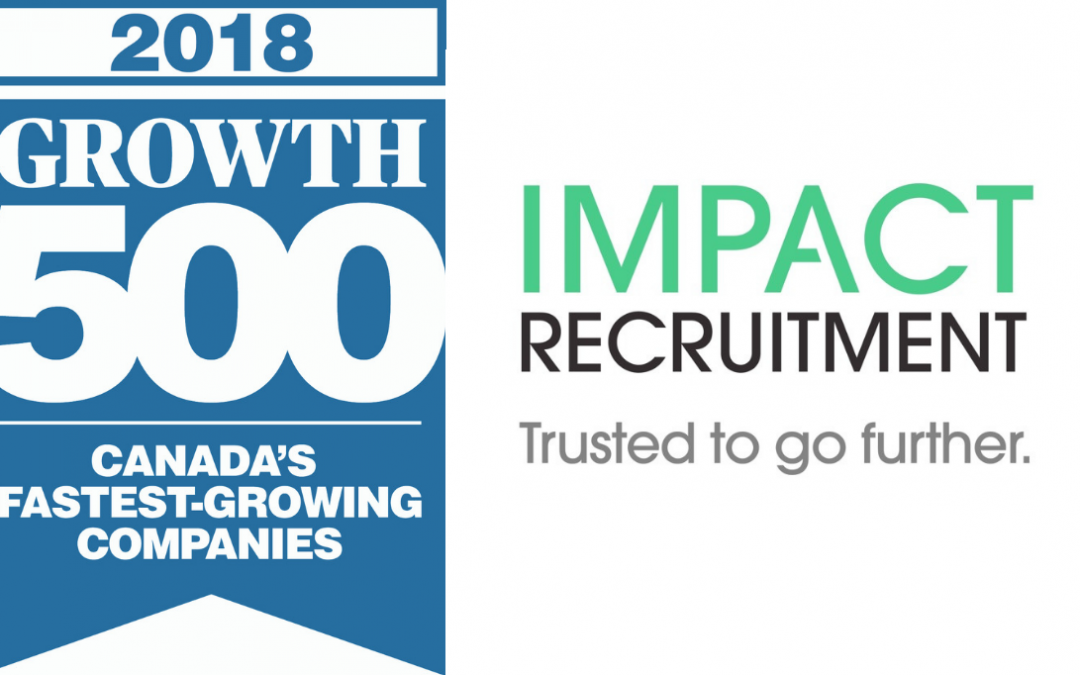 Impact Recruitment ranked as one of Canada's Fastest-Growing Companies for the third consecutive year