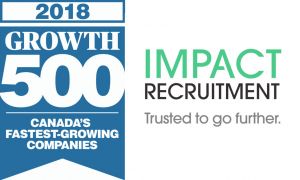 growth5002018A 300x180 - Impact Recruitment ranked as one of Canada's Fastest-Growing Companies for the third consecutive year