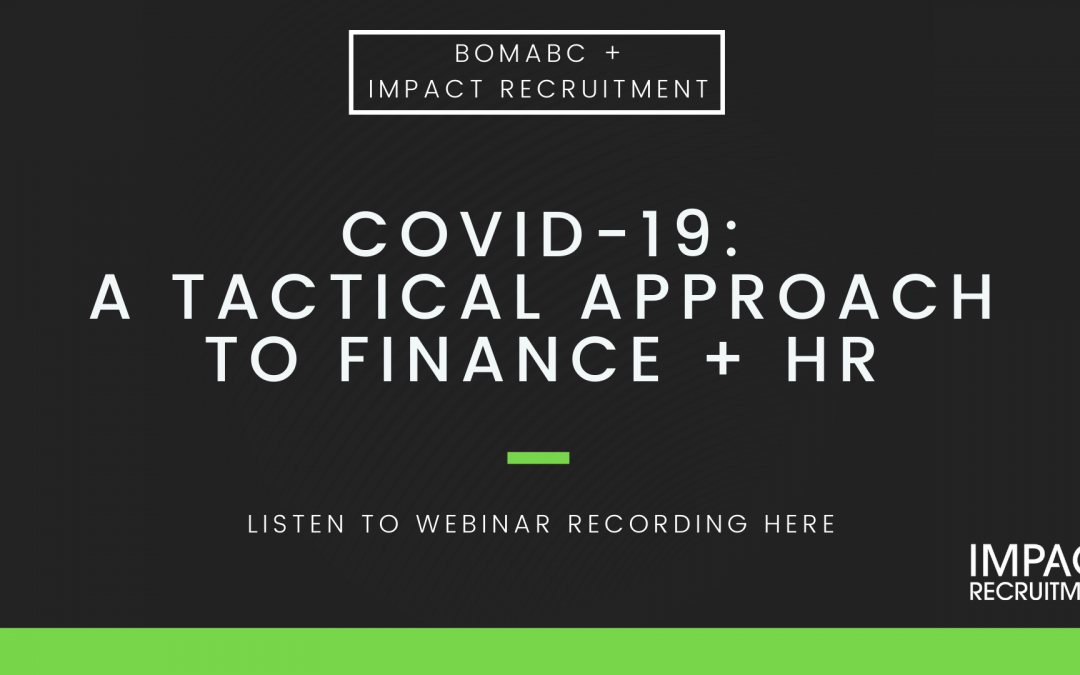 COVID-19: A Tactical Approach to HR + Finance