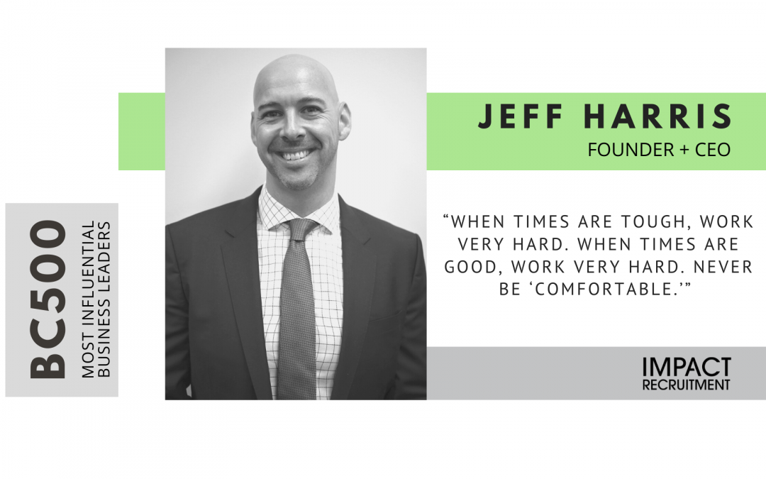 Jeff Harris named to BC500 list of most influential business leaders